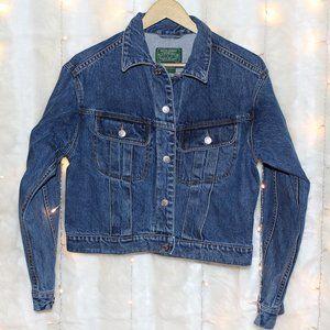Ralph Lauren Womens Jean Jacket w/ silver buttons
